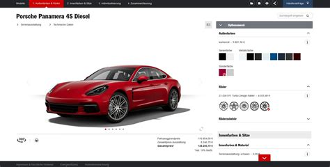red porsche panamera 2017 2017 porsche panamera configurator reveals the 4s diesel