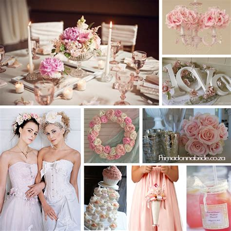 pink and white shabby chic wedding primadonna bride