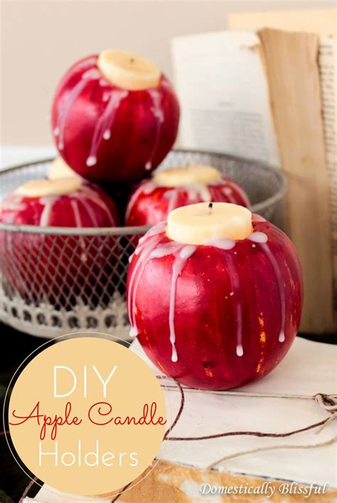 Apple Candle diy apple candle holders