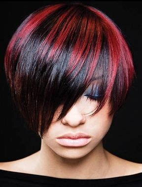 hilite placement on bob haircut highlight placement style hair pinterest red