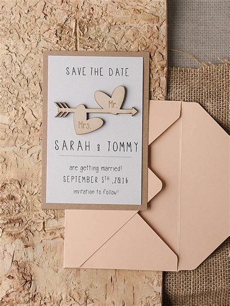 save  date cards  rustic save  date wood save