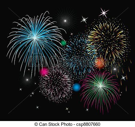 vector clipart of vector fireworks background csp8807660
