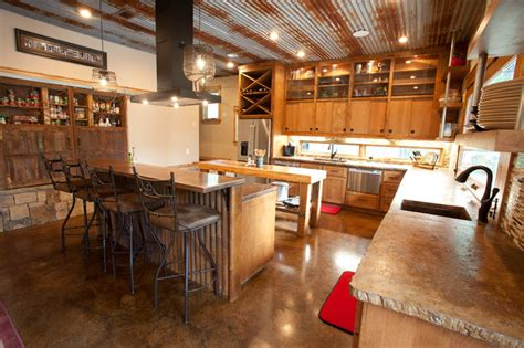 Rustic modern kitchen rustic kitchen dallas by wright built