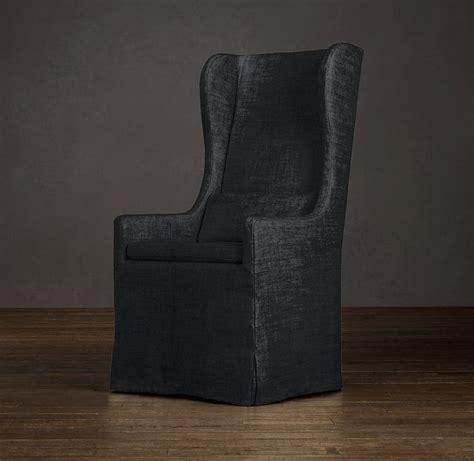 dining armchair slipcover slipcovered wingback dining armchair slipcover fabric