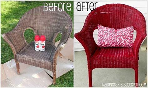 paint wicker furniture craft ideas
