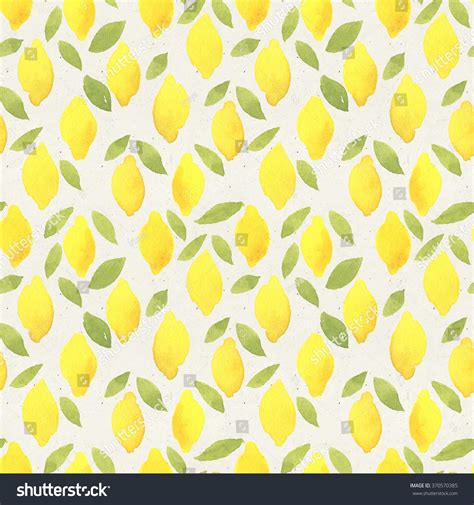 cute lemon pattern seamless watercolor pattern on paper texture stock
