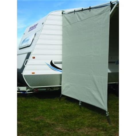 rv awning screens privacy screen end panel t s roll out awning on pop top grey