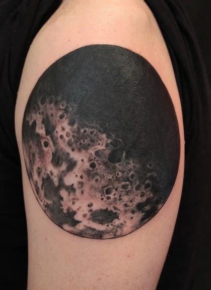 realistic moon tattoo realistic moon