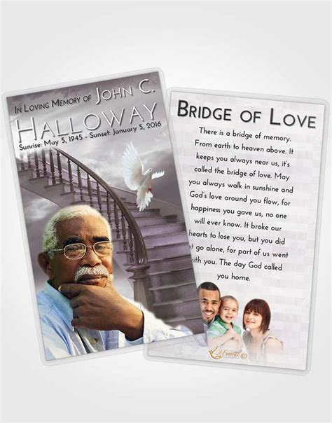 prayer cards for funerals template prayer card template stairway to heaven smile