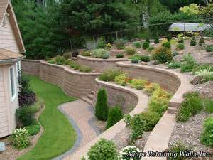Terraced Patio Designs by Agape Retaining Walls Hardscape Photo Album