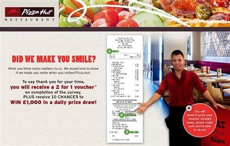 Tell Pizza Hut Sweepstakes - tell pizza hut in survey on tellpizzahut co uk