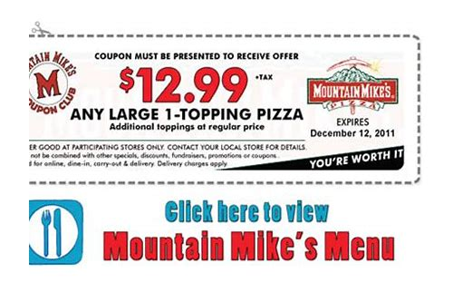 mt mike's coupon