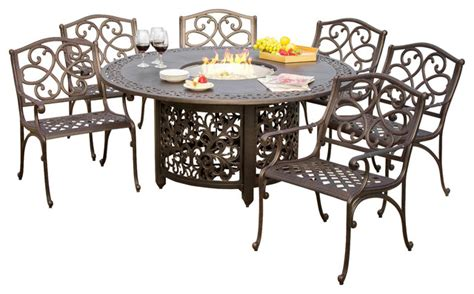Cast Iron Patio Dining Set Cast Iron Patio Dining Set 5 Patio Set Outdoor Dining Black Cast Iron Aluminum Furniture Seat