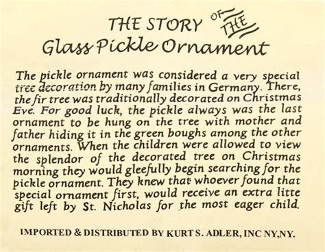 pickle ornament story christmas pinterest