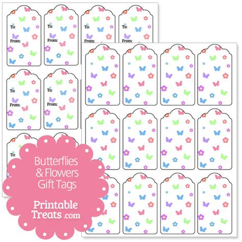 printable butterfly name tags butterfly and flower gift tags printable treats com