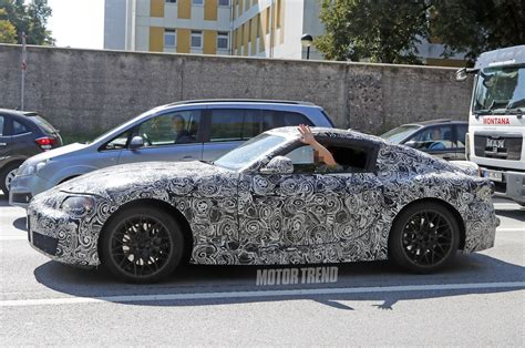 toyota supra side spied toyota supra caught testing for the first time