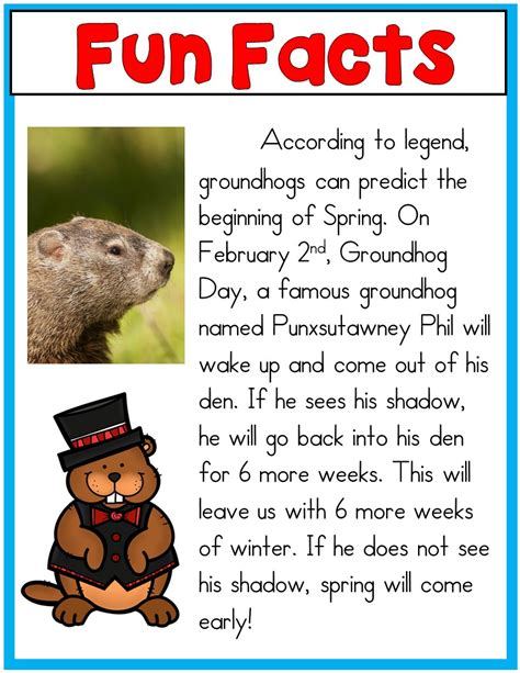 groundhog day trivia mrs mcginnis zizzers groundhog day activities