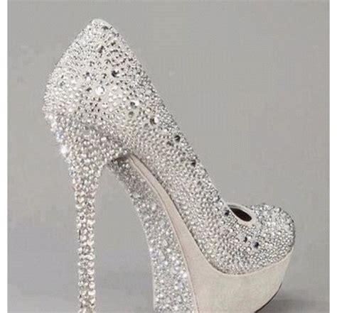 shoes prom silver sparkle heels silver shoes wheretoget