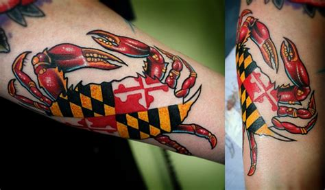 maryland flag tattoo designs dave wah artist baltimore maryland