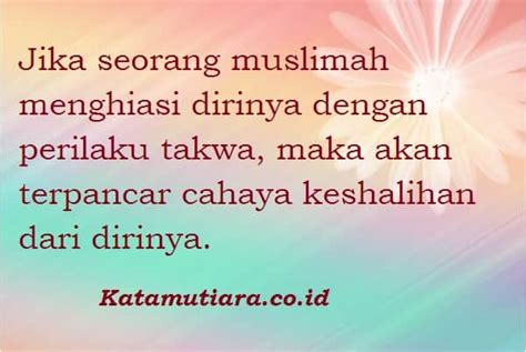 kata mutiara islam tentang wanita solehah  indah
