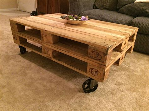 coffee table with caster wheels pallet coffee table with casters