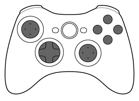 free xbox 360 controller coloring pages