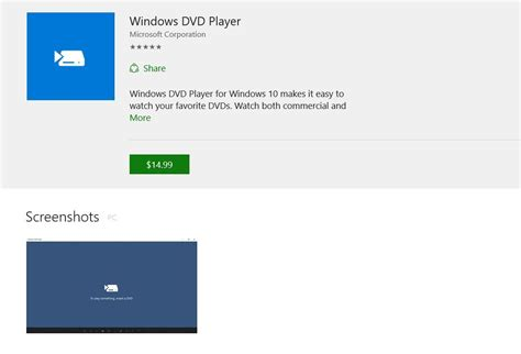 install windows 10 dvd player the windows 10 dvd player app is now in the windows store