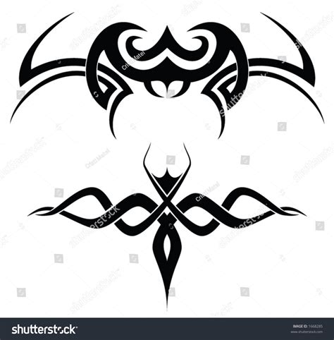tribal tattoos for couples tribal vector shapes stock vector 1668285