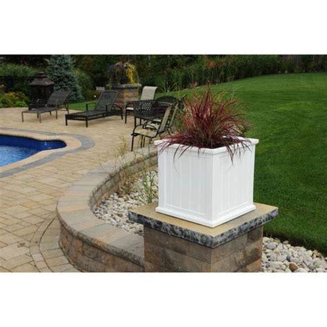 20 inch planter cape cod white patio planter 20 x 20 inch mayne outdoor