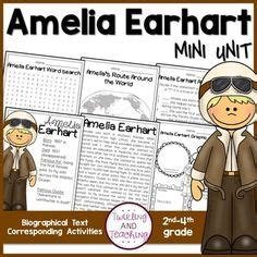 amelia earhart biography for middle school amelia earhart no prep lessons for grades 2 4 with
