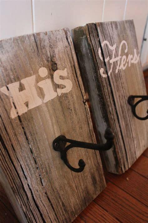 wooden towel hooks for bathrooms rustic towel hooks his hers reclaimed barn wood