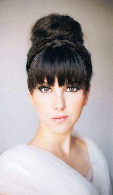 Updo Hairstyles With Bangs by 10 Best Images About Updos With Bangs On