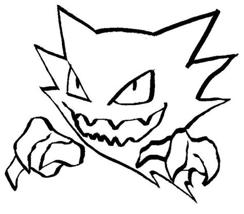 pokemon coloring pages of gastly pokemon coloring page 093 haunter coloring pages
