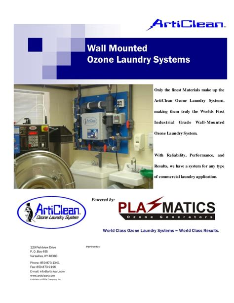 articlean aw wall mounted ozone laundry system
