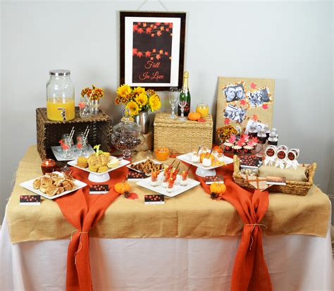 fall wedding bridal shower ideas fall in bridal shower theme candles and favors