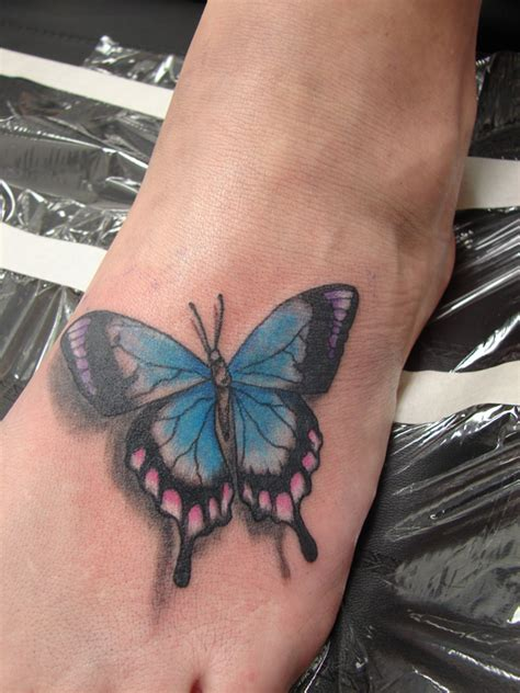 butterfly tattoo in feet butterfly foot tattoos all about