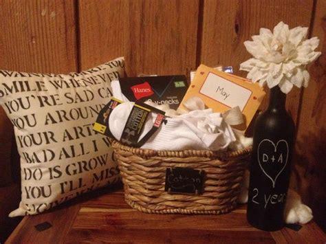 Cotton Anniversary gift basket! T shirts, socks, cotton