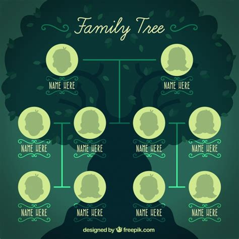 free eps format editor family tree template vector free download