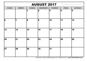 Resume 2018 by August 2017 Calendar Template Weekly Calendar Template