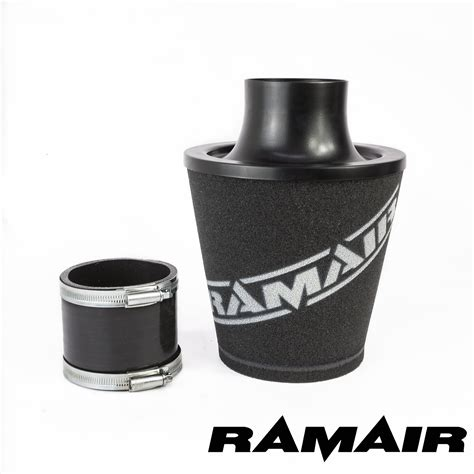 air inductor coupling ramair black aluminium induction air filter universal with 80mm id coupling ebay