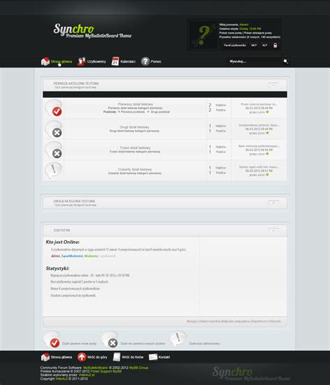 mybb themes mybb mods synchro premium mybulletinboard theme
