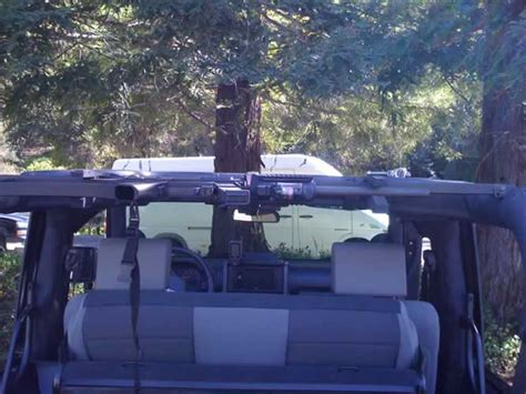 jeep wrangler overhead gun rack car interior design