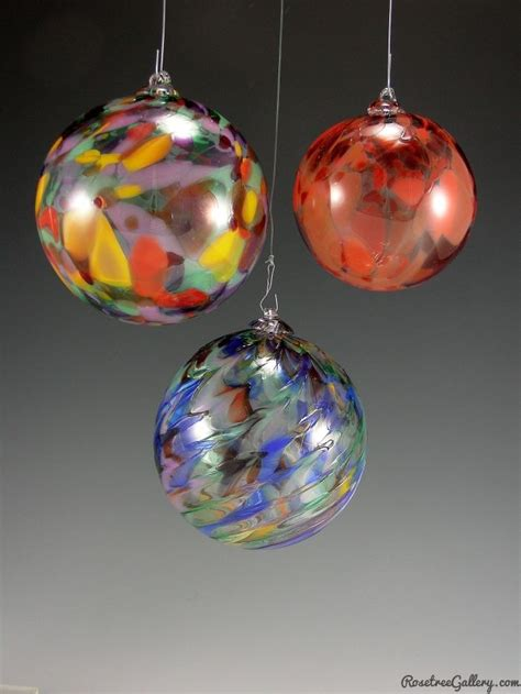 ornaments glass blown speckled ornaments rosetree blown glass