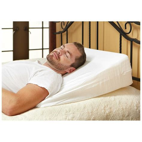 foam bed pillows 10 quot foam bed wedge pillow cushion with cover ebay