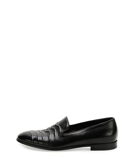 Mcqueenleather Loafers mcqueen leather ribcage loafer black