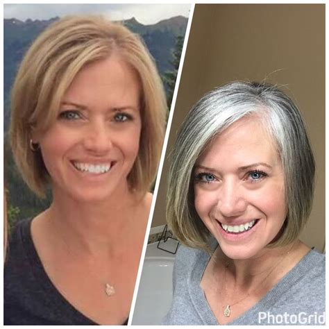 grey hair pics before and after 464 best images about growing gray on pinterest short