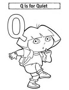 alphabet letter q for quiet coloring page bulk color
