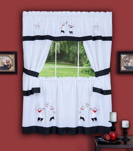 Fat Chef Kitchen Curtains Com