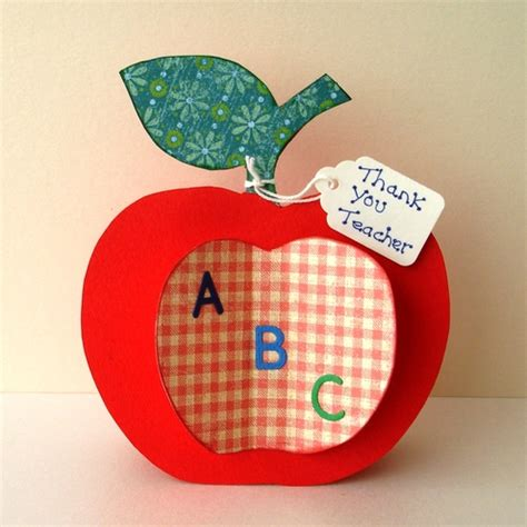 How To Buy Apple Gift Card - crafts for teacher folksy buy quot thank you teacher apple shaped card handmade