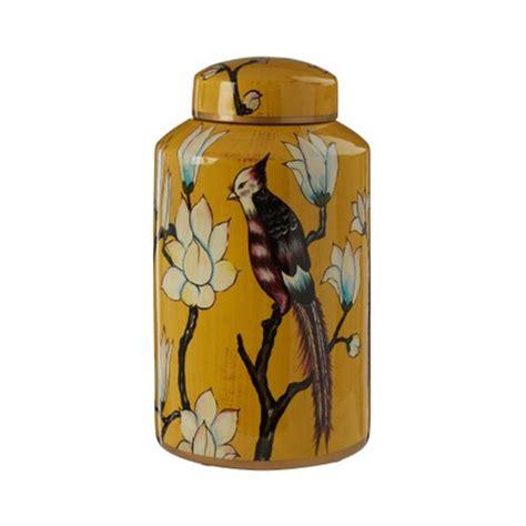 tropical ochre ceramic jar
